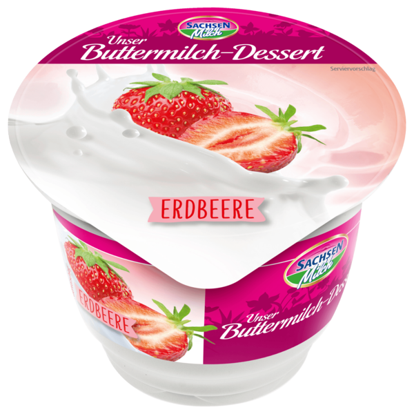 Sachsenmilch Dessert Erdbeere 200g