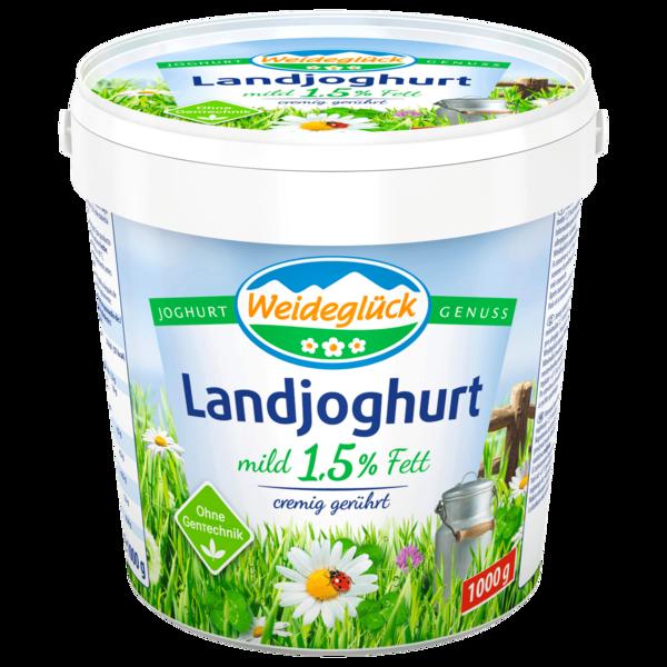 Weideglück Landjoghurt mild 1,5% 1kg