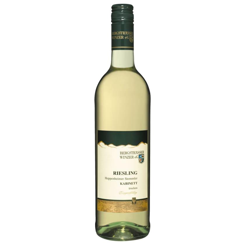 Heppenheimer Stemmler Weißwein Riesling trocken 0,75l