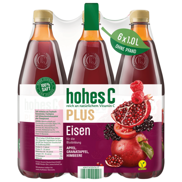 Hohes C Plus Eisen 6x1l