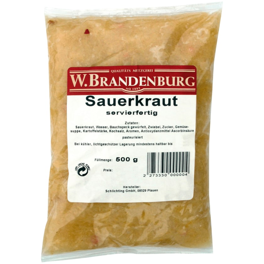 Wilhelm Brandenburg Servierfertiges Sauerkraut 500g