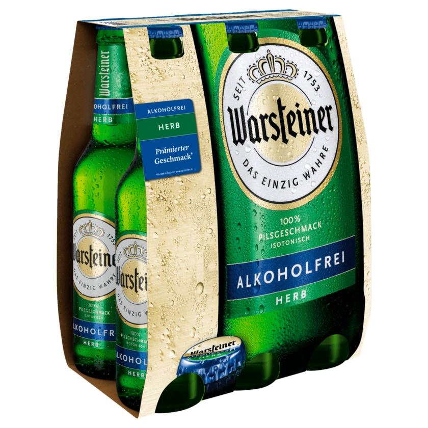 Warsteiner Herb alkoholfrei 6x0,33l