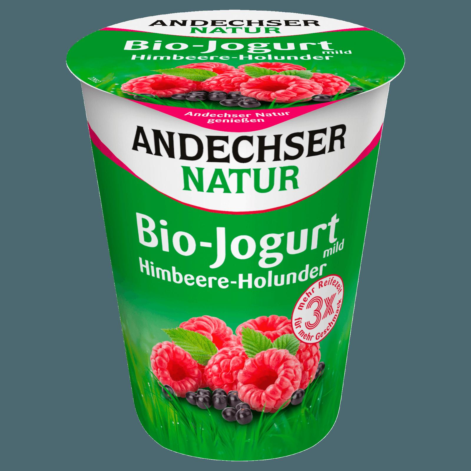 Andechser Natur Bio-Jogurt mild Himbeer-Holunder 400g