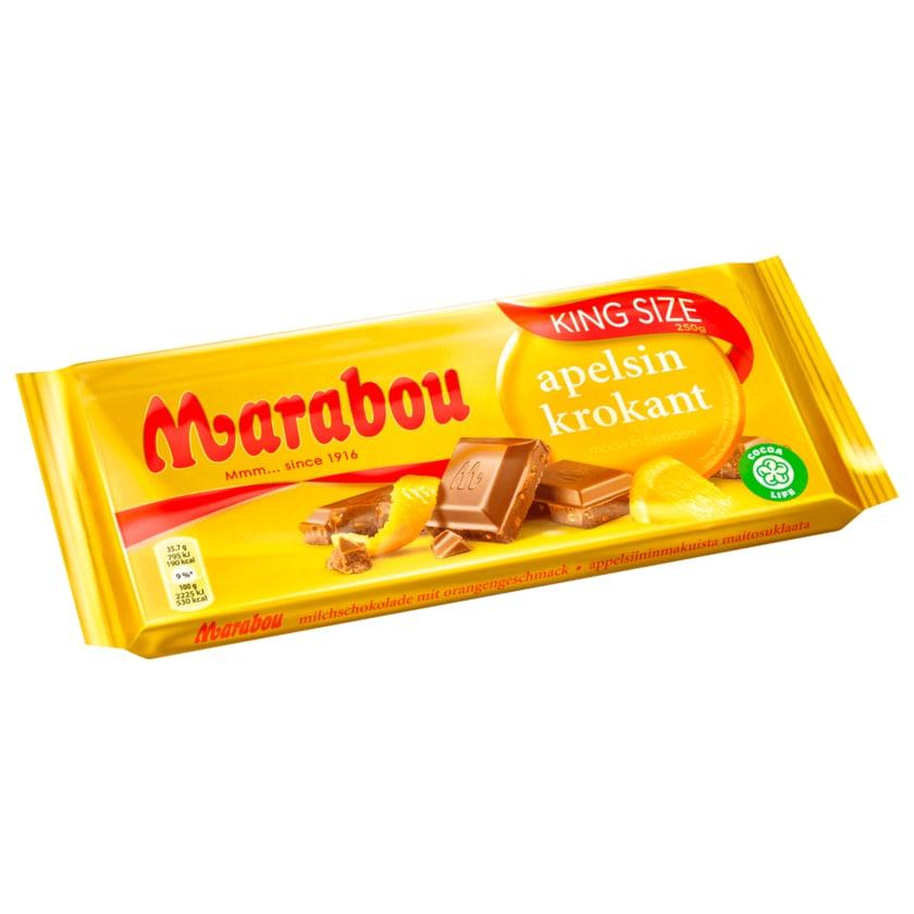 Marabou Vollmilchschokolade mit Orange & Krokant 250g
