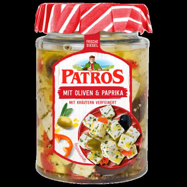 Patros Würfel mit Oliven und Paprika 300g