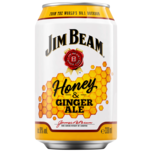 Jim Beam Honey & Ginger Ale 0,33l
