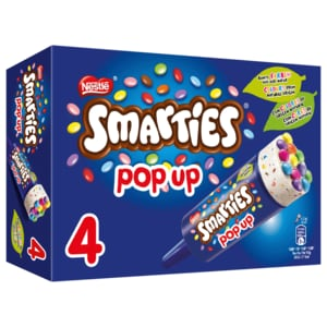 Nestlé Schöller Eis Smarties Pop up 4x85ml