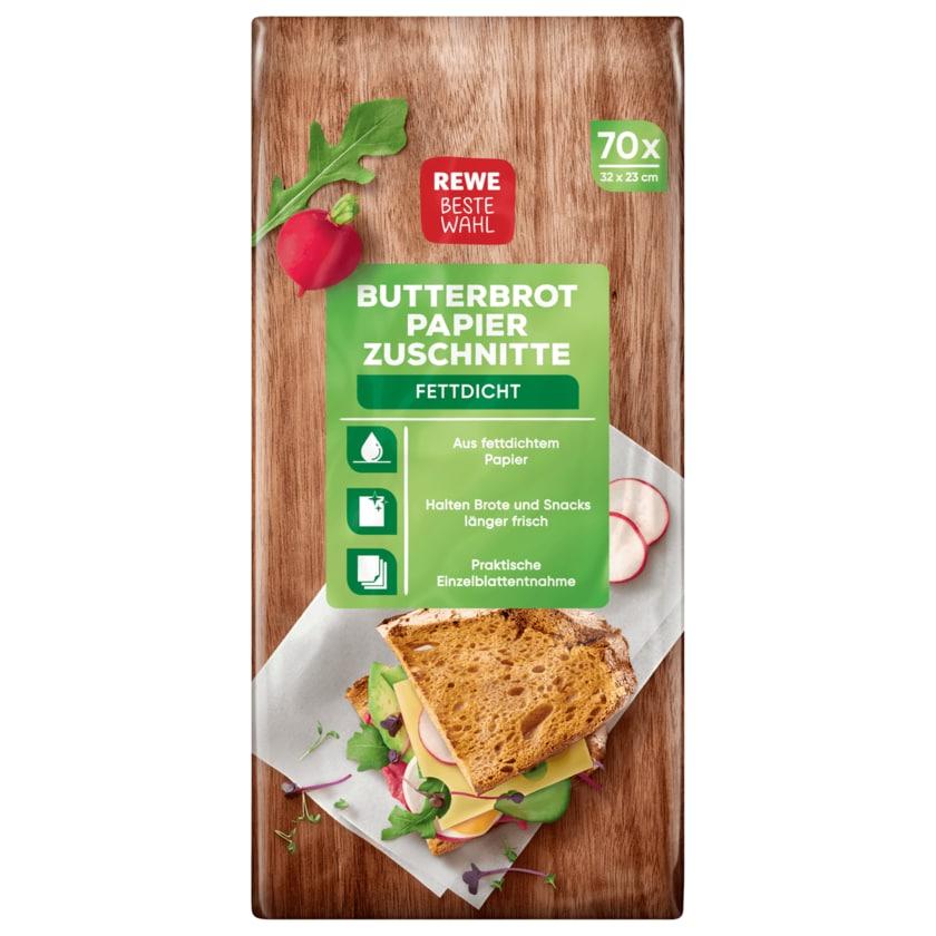 REWE Beste Wahl Butterbrotpapier-Zuschnitte 70 Stück