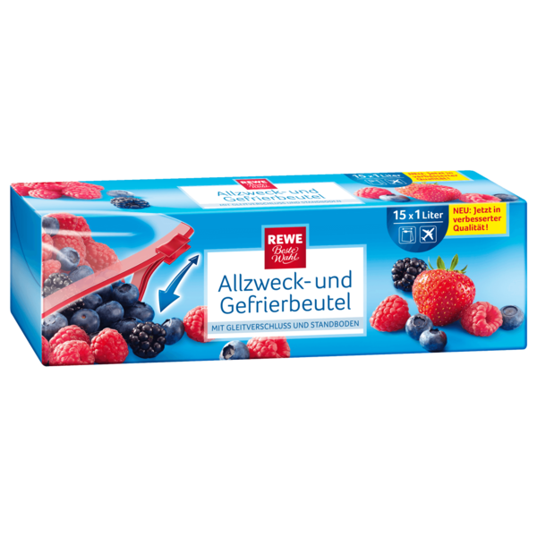REWE Beste Wahl Allzweck- & Gefrierbeutel 1l, 15 Stück