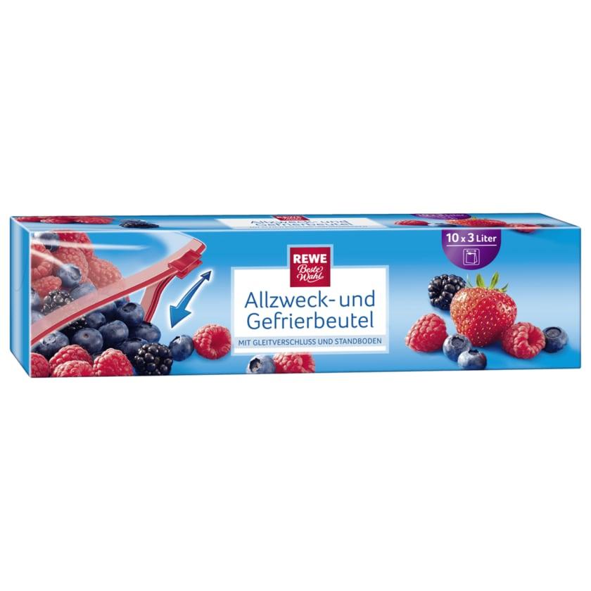 REWE Beste Wahl Allzweck- & Gefrierbeutel 3l, 10 Stück