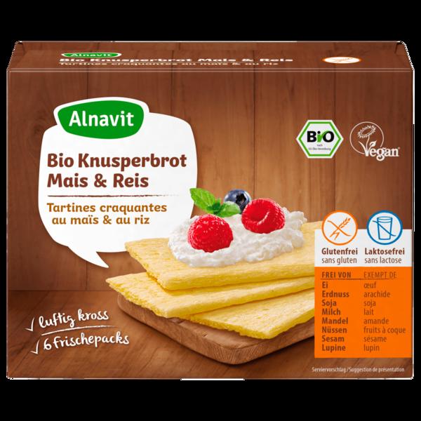 Alnavit Bio Knusperbrot Mais & Reis 150g