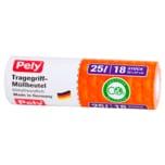 Pely Tragegriff-Müllbeutel 25l 18 Stück