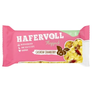 Hafervoll Flapjack Cashew-Cranberry 65g