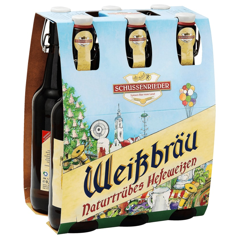 Schussenrieder Weißbräu 6x0,5l