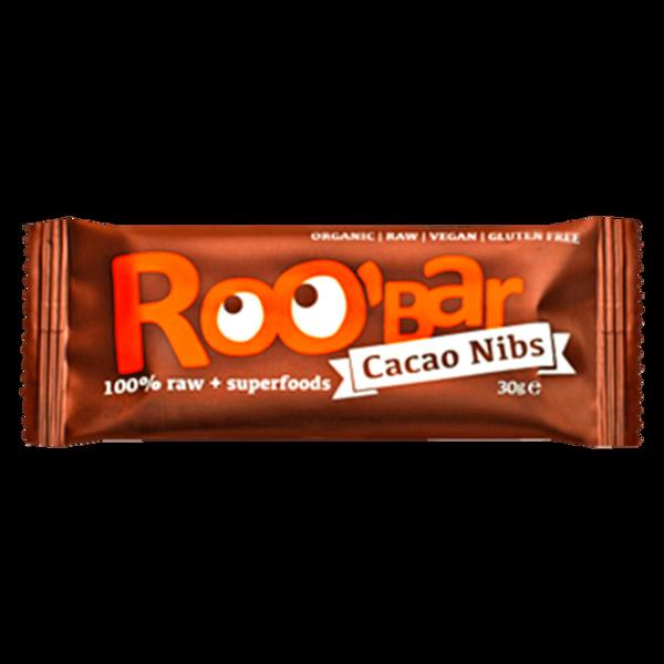 Roobar Superfood Riegel Bio Cacao Nibs 30g