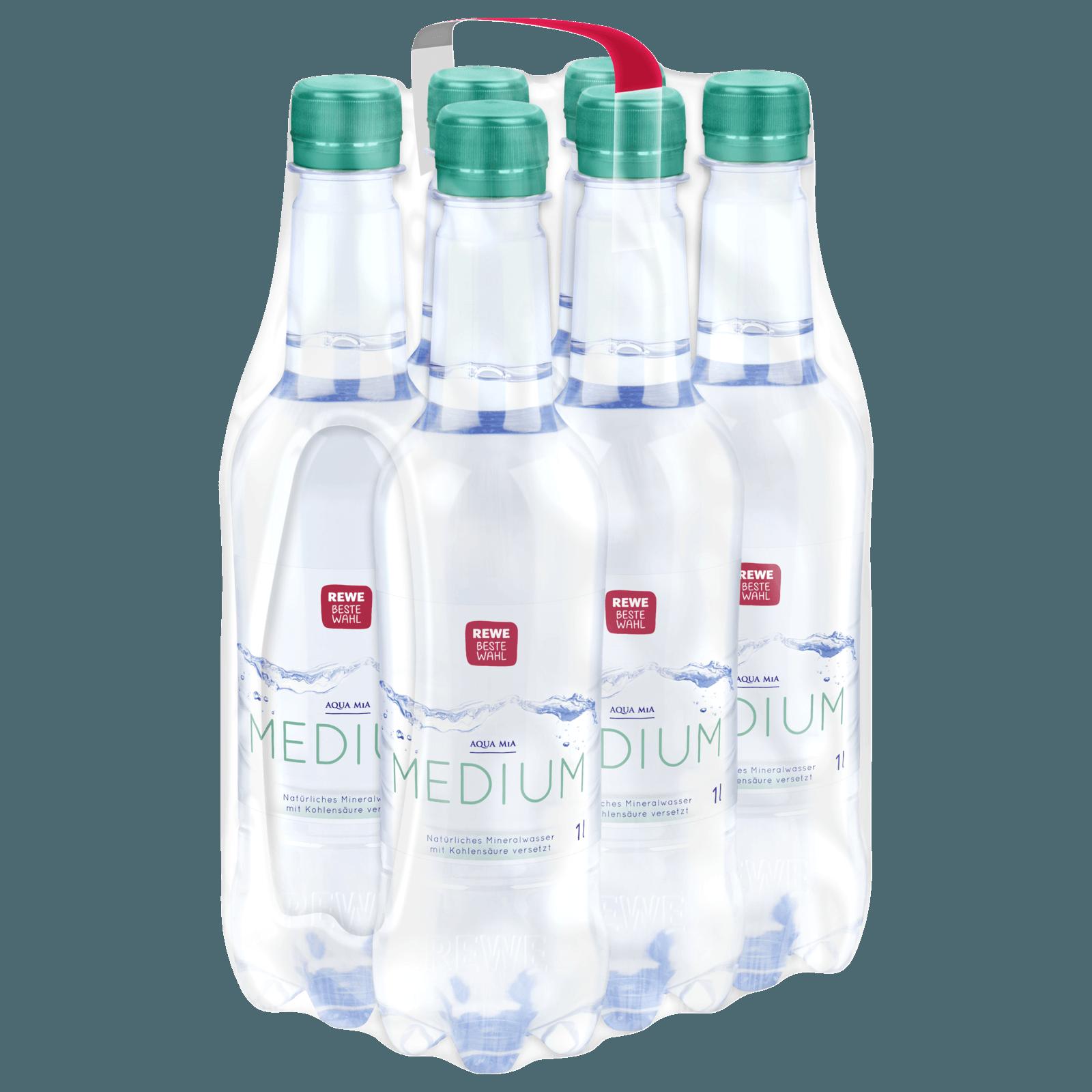 REWE Beste Wahl Mineralwasser Medium 6x1l