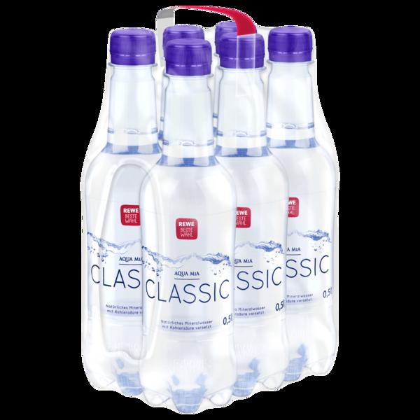 REWE Beste Wahl Mineralwasser Classic 6x0,5l