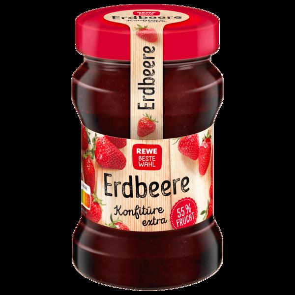 REWE Beste Wahl Erdbeere Konfitüre extra 340g
