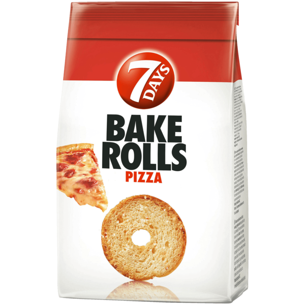 7 Days Bake Rolls Brot Chips Pizza 250g