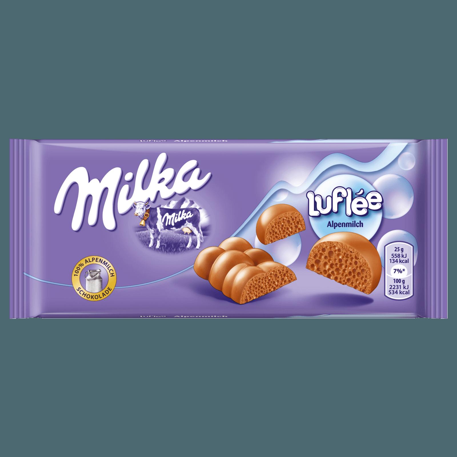 MILKA LUFLEE SCHOKO TAFEL LUFLEE MILCH