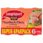 Saupiquet Thunfischfilet in Olivenöl 6x80g