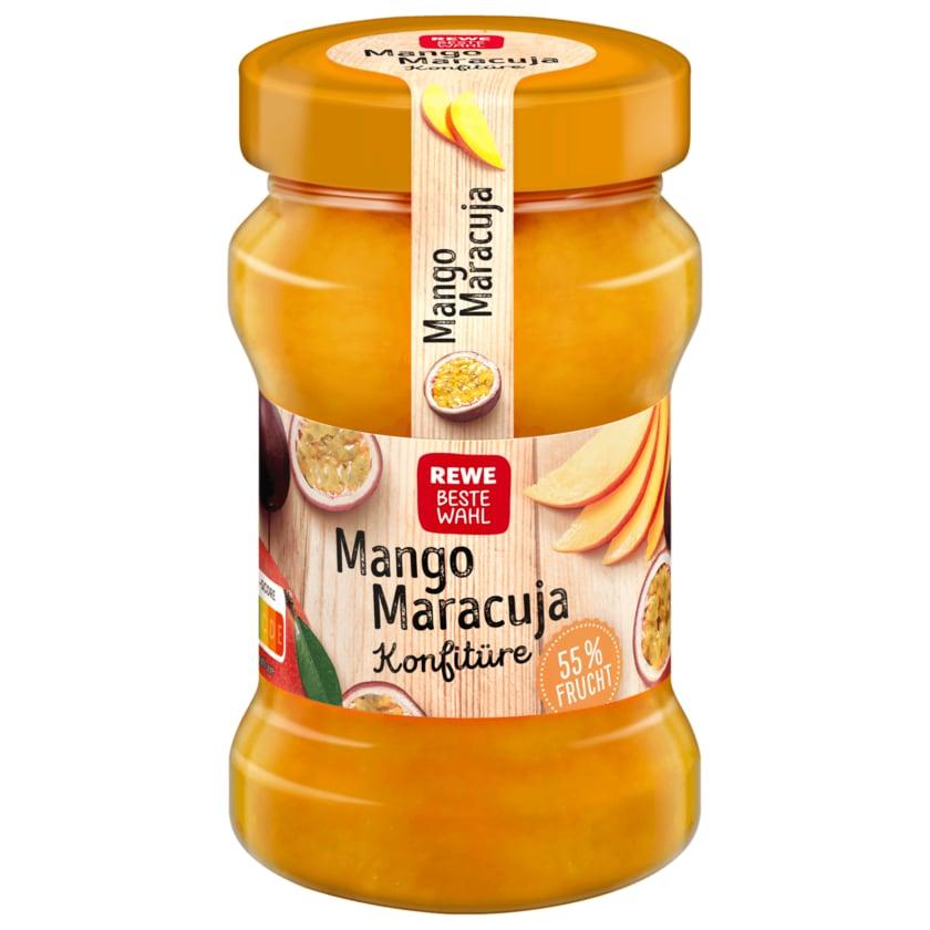 REWE Beste Wahl Mango-Maracuja Konfitüre 340g
