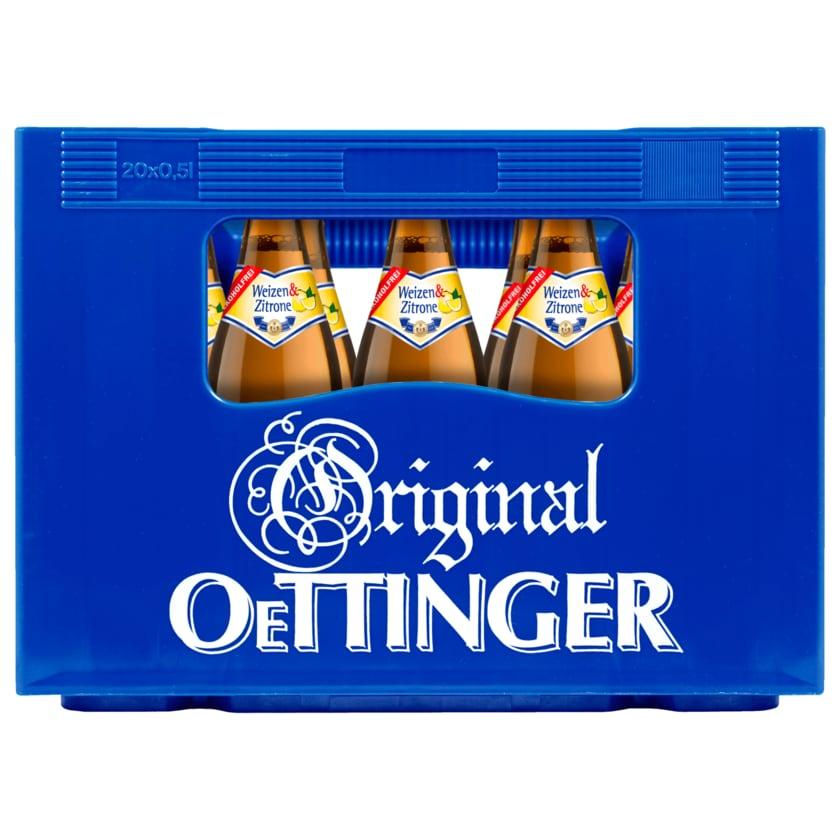 Original Oettinger Weizen & Zitrone alkoholfrei 20x0,5l