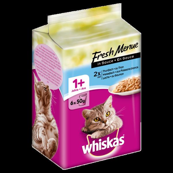 Whiskas 1+ Fresh Menue in Sauce 6x50g