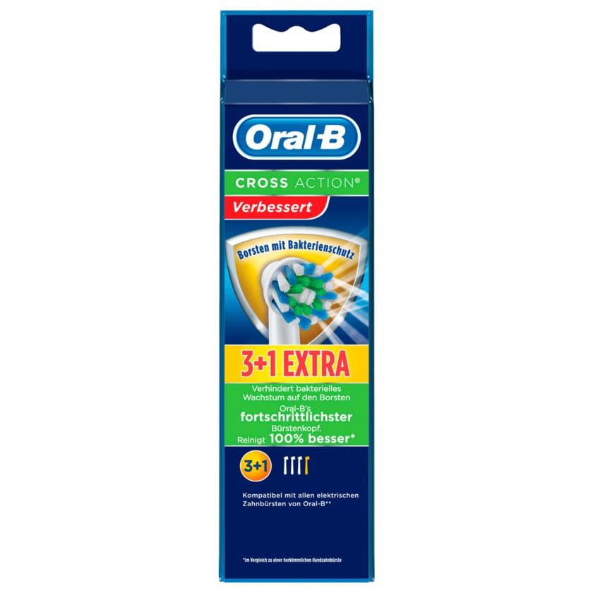 Oral-B Aufsteckbürsten Power Cross Action 3er +1