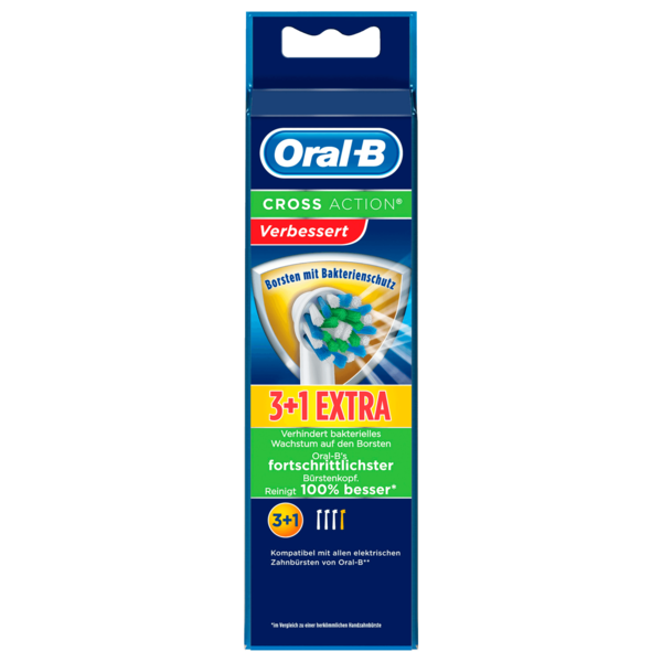 Oral-B Aufsteckbürsten Power Cross Action 3er +1