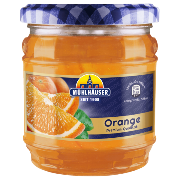 Mühlhäuser Orange Marmelade 450g