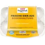 REWE Regional frische Eier Bodenhaltung 6 Stück