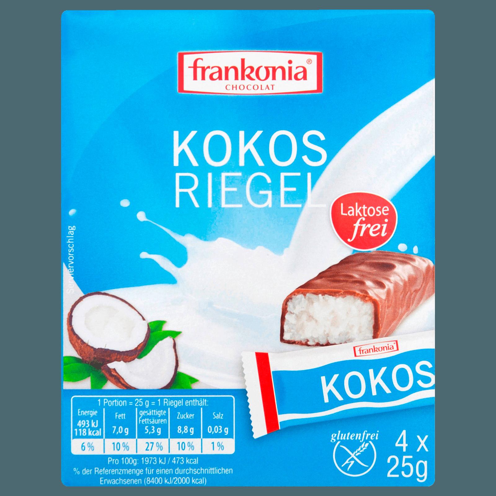 Frankonia Kokos Riegel glutenfrei 4x25g