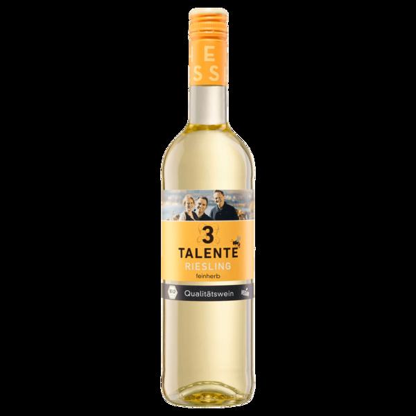 3 Talente Weißwein Riesling Bio QbA feinherb 0,75l