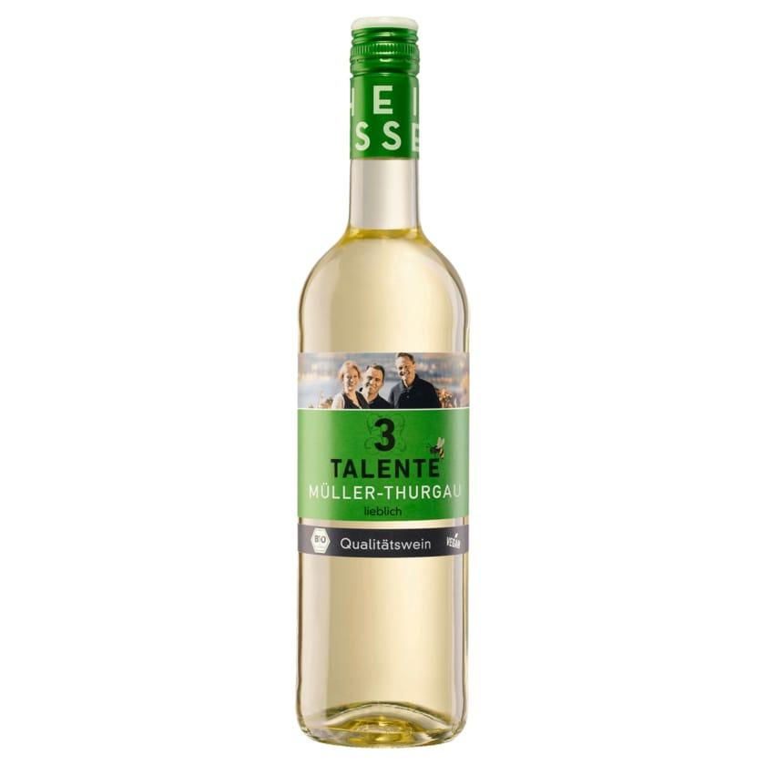 3 Talente Weißwein Bio Müller-Thurgau QbA lieblich 0,75l