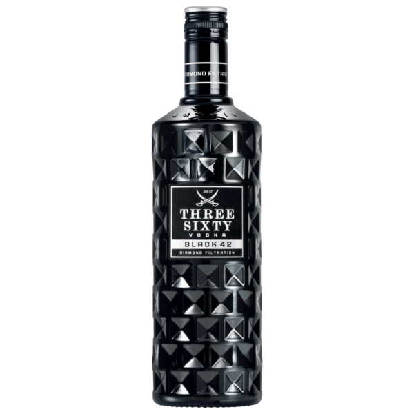 Three Sixty Vodka Black 0,7l