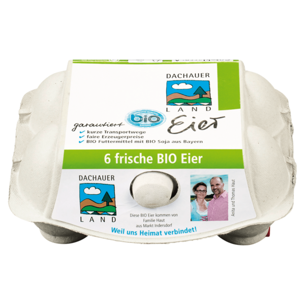 Dachauer Land Bio Eier Freilandhaltung 6 Stück