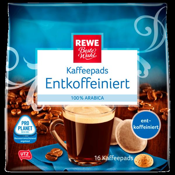 REWE Beste Wahl Kaffeepads entkoffeiniert 16er 112g