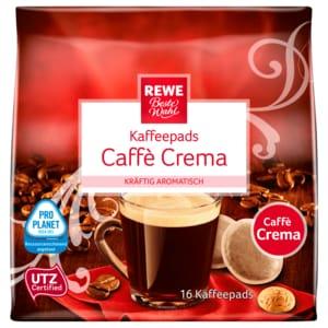 REWE Beste Wahl Kaffeepads Caffè Crema 112g, 16 Stück