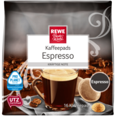 REWE Beste Wahl Kaffeepads Espresso 16 Stück