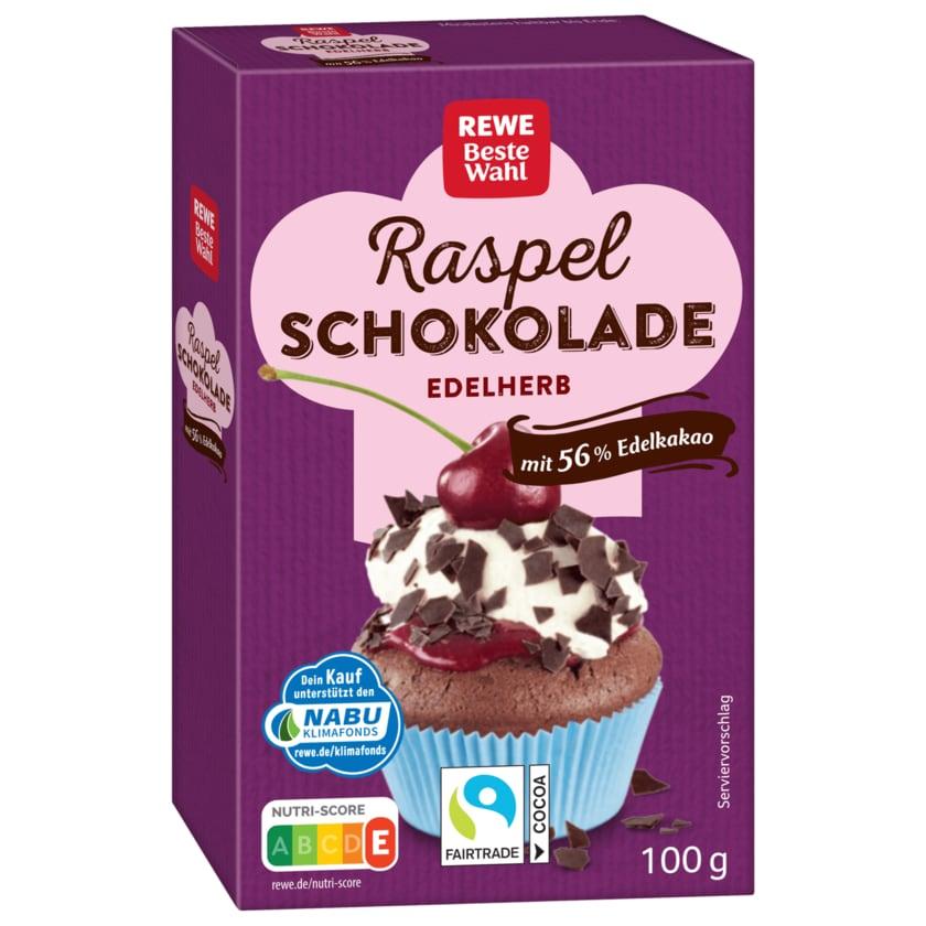 REWE Beste Wahl Raspelschokolade edelherb 100g