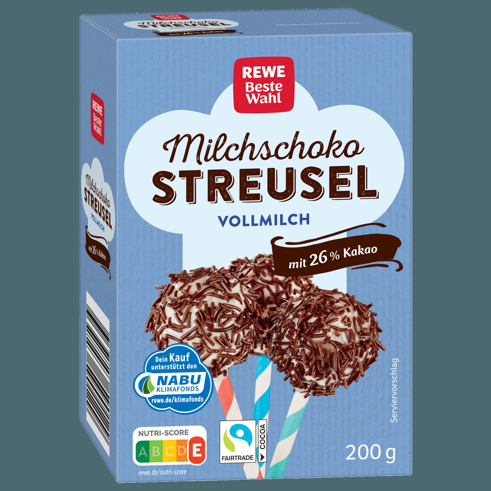 REWE Beste Wahl Milchschoko-Streusel 200g