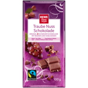 REWE Beste Wahl Traube-Nuss-Schokolade 100g