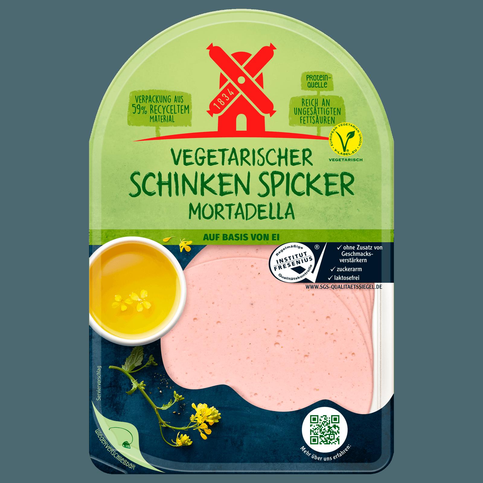 Rügenwalder Mühle Vegetarischer Schinken-Spicker Mortadella 80g
