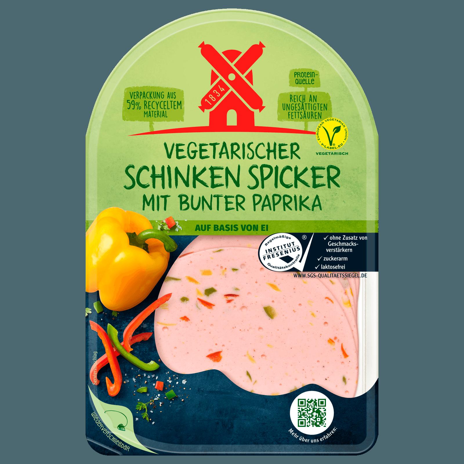 Rügenwalder Mühle Vegetarischer Schinken-Spicker Bunte Paprika 80g