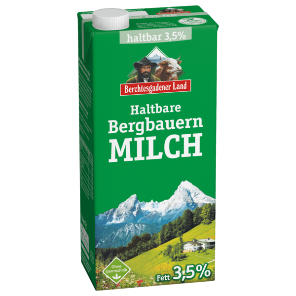 berchtesgadener land haltbare bergbauern milch 3 5 1l bei rewe online bestellen. Black Bedroom Furniture Sets. Home Design Ideas