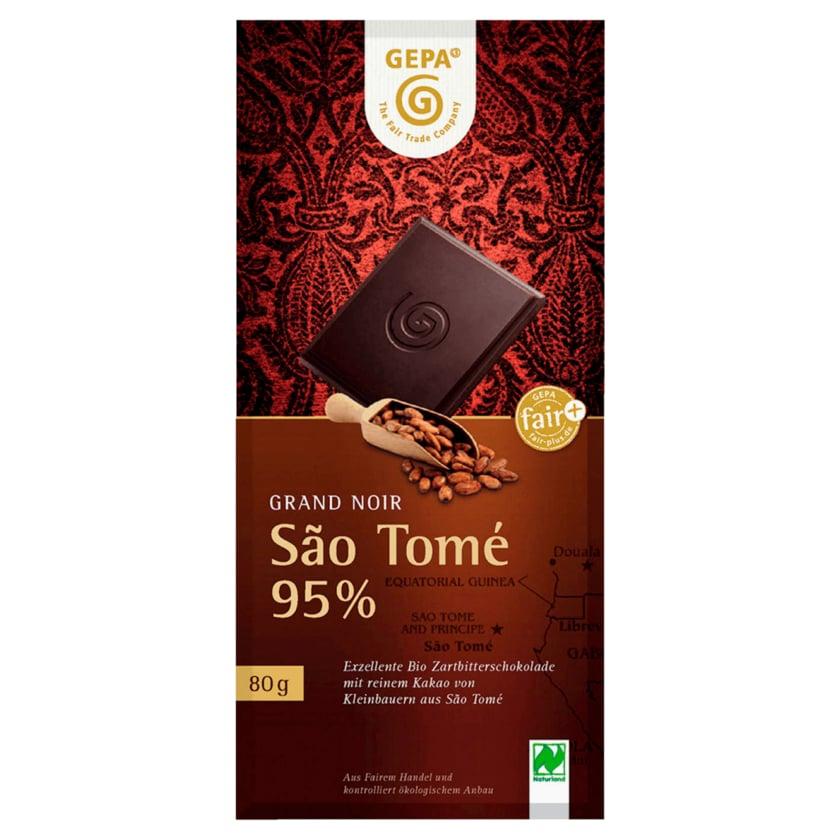 Gepa Bio Bitterschokolade Sao Tomé 95% 80g