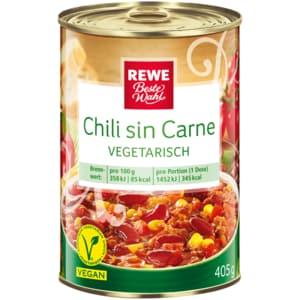 REWE Beste Wahl Chili sin Carne vegetarisch 405g