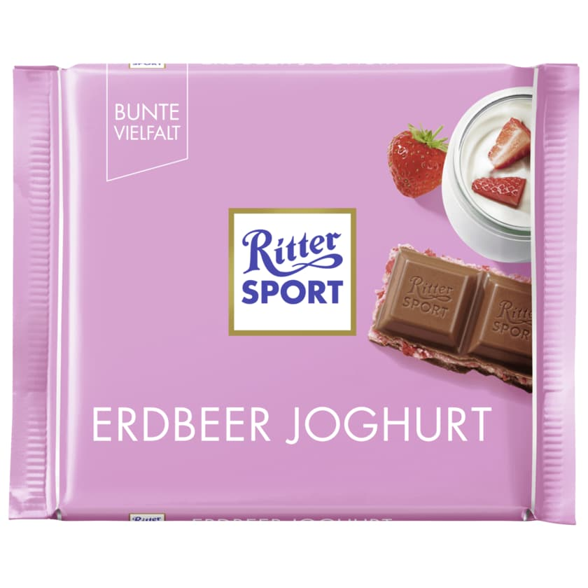 Ritter Sport Schokolade Erdbeer Joghurt 100g