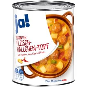 ja! Pikanter Fleischbällchen-Topf mit Paprika & Kartoffeln 800g
